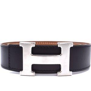 Black On Gold 32mm  Leather Size 70 Belt